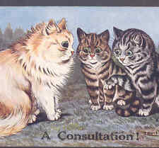 """WAIN.....CATS MEET FORTUNE TELLER FOR """"A CONSULTATION!"""" OFFERS PAW, POSTCARD"""
