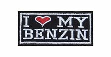 I Love my Benzin Biker Heavy Rocker Patch Aufnäher Kutte Motorrad Badge Stick