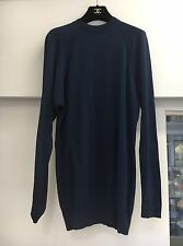 Authentic CHANEL BOUTIQUE Navy Top With CHANEL Button Back Sz US 4/6 Euro 36