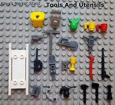 LEGO Minifigure Bulk Lot of 50 Accessories Assorted Utensils Tools Weapons Guns