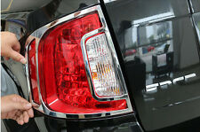 2pcs Rear Tail Light Lamp Cover Trim ABS Chrome fit for Ford Edge 2011 2012 2013