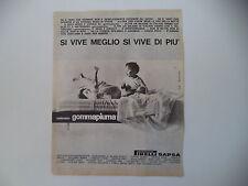 advertising Pubblicità 1963 MATERASSI GOMMAPIUMA PIRELLI