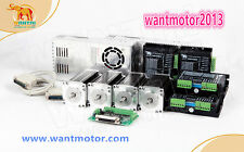 US Free! Wantai 4Axis Stepper Motor Nema23 270oz-in 3A 4-Lead &Driver 4.2A CNC
