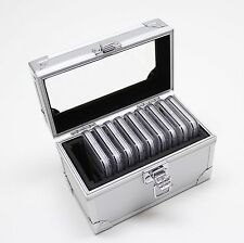 Aluminum Storage & Display Box Case for 10 PCGS or NGC Coin Slab Holders Ten