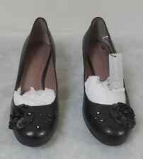M&S Per Una Leather Jewel Embellished Court Shoes, Black, UK 6,  BNWT