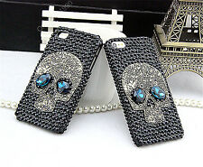 Bling Crystal Skull Handmade Case Cover skins For Samsung Galaxy S7 SS319