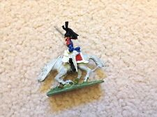 French Cuirassier Officer and Horse White Metal / Part Painted