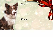 Border Collie Dog Self Adhesive Gift Labels No. 2. design by Starprint