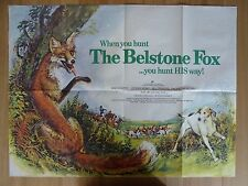 THE BELSTONE FOX  (1973) - original UK quad film/movie poster,animal,fox hunting