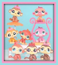 ❤️CUTE Littlest Pet Shop LPS 8 Baby Monkeys w/ Bows 714 811 853 1493 2119 +❤️