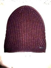 NWT JOHN VARVATOS USA  Men's 100% Wool, Burgundy Beanie