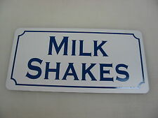 "MILK SHAKES Metal Signs 6""x12"" Food & Beverage Retro Vintage Design Concession"
