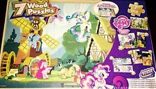 My Little Pony FIM Wooden Puzzle Box 7 Pack! 7 Wooden Puzzles With Storage Box