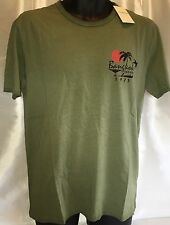 LUCKY BRAND Men's Graphic Bangkok Barhop Sleeve Green Cotton T Shirt Large NWT
