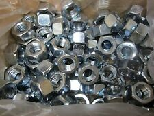 130 Count Case, 7/8-9 Grade A  Heavy Hex Steel Nuts, Zinc, ASTM A563