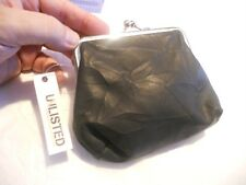 Kenneth Cole Unlisted Black Leather Wristlet