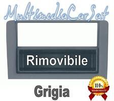 MASCHERINA AUTORADIO DOPPIO ISO DIN FIAT IDEA LANCIA MUSA ANTRACITE SCURO 03319