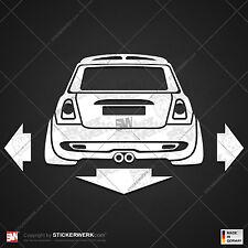 C153 | Aufkleber LOWER & WIDER MINI R56 Cooper S | Sticker Work Camber Low Breit