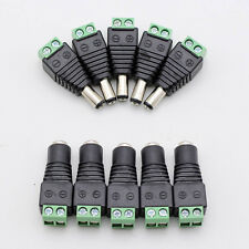10pcs DC 5.5 x 2.1mm Power Male Jack Adapter Cable Plug Connector for CCTV / LED
