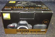 Nikon D3300 Digital SLR Camera Black + NIKKOR 18-55mm f/3.5-5.6G VR II AF-S Lens