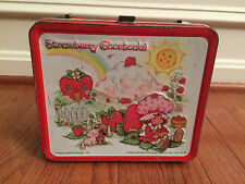 "1980 Vintage Aladdin ""STRAWBERRY SHORTCAKE"" Metal Lunchbox, RARE!"