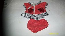 CABBAGE PATCH KID DOLL  TRU DOLLS   GIRL clothes babies outfit red 000