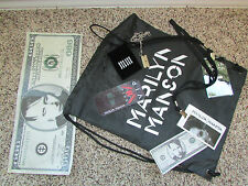 Marilyn Manson VIP Pass Package 2016 razor blade necklace cinch bag manson money