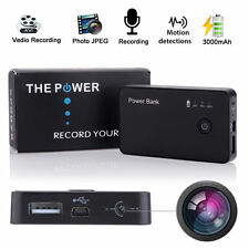 SPY MOTION ACTIVATED CAMERA DVR POWER BANK 3000mAh PORTABLE BATTERY HD VIDEO CAM