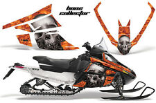 AMR Racing Sled Wrap Arctic Cat F Series Snowmobile Graphic Decal Kit BONES ORNG