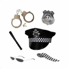Donna Policewoman 6 Pezzi Set Fancy Dress Cop Costume Divertente Accessorio Gallina