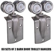 (6) National Mfg N112-102 2 pack Barn Door Trolley Hanger / Rollers