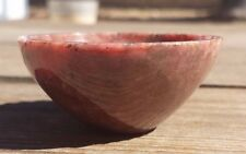 NATURAL RHODONITE STONE HANDCARVED GEMSTONE BOWL [4]