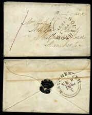 GB 1844 SOUTHPORT 1d PURPLE MANUSCRIPT...MINIATURE ENVELOPE MANCHESTER COOTE