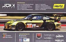 2013 JDX Racing Hertz Porsche 997 GT3 Cup ALMS postcard