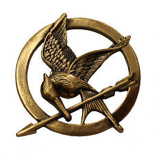 The Hunger Games Bronze Mockingjay Pin Brooch katniss metal jewelry w/ clasp New