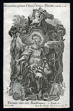 santino incisione 1700  CORI DEGLI ANGELI,I TRONI  klauber