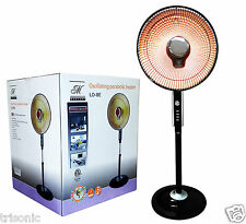 Premium 900-Watt Parabolic Dish Oscillating Radiant Fan Heater Reflective UL New