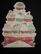 Carol Wilson 10 Christmas Cards Envelopes Cupcakes Cup Cake Boxed SetHoliday