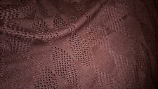 tissu jersey maille ajourée pull  col marron 100x140 cm ideal pancho