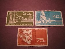 France Polynesia Scott# C34-36 Designs 1965 MLH C30