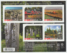 Canada -  #2739 UNESCO World Heritage Sites in Canada Souvenir Sheet 2014  - MNH