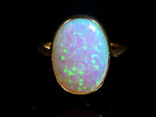 OPAL GOLD SOLITAIRE RING 5CT COLOURFUL OPAL