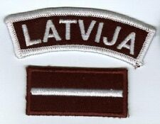 LATVIA. Latvian Army NATIONAL FLAG & ARC TITLE PATCH. FREE SHIPPING