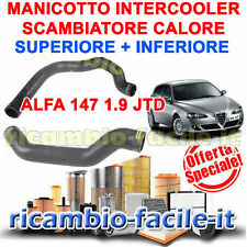 KIT MANICOTTO TUBO ALFA 147 INTERCOOLER SCAMBIATORE CALORE SUPERIORE + INFERIORE