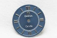 Genuine Ladies Blue Omega De Ville Dial - Silver Numerals - NOS - 18mm