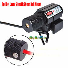 Hunting Red Dot Laser Sight Fit 20mm Rail Mount For Air Gun Rifle Pistol Scope