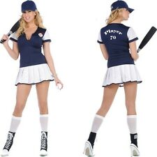 NEW Sexy Home Run Hitter Baseball Player FULL Costume INCLUDES BAT & BALL - S
