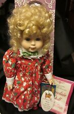 """HERITAGE MINT PORCELAIN DOLL COLLECTION Holly Xmas New Free US Ship '93 14"""""""