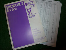 RENAULT EXTRA ELECTRICAL WIRING CIRCUIT & HARNESS DIAGRAMS OEM MANUAL 1996 MY