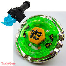 Flame LIBRA BB-48 BEYBLADE Masters Fusion Metal+GRIP+BLUE SPIN LAUNCHER